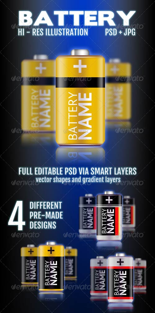 GraphicRiver Battery Illustration