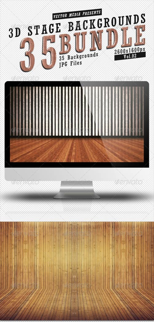 GraphicRiver 3D Stage Backgrounds - Bundle Vol.2