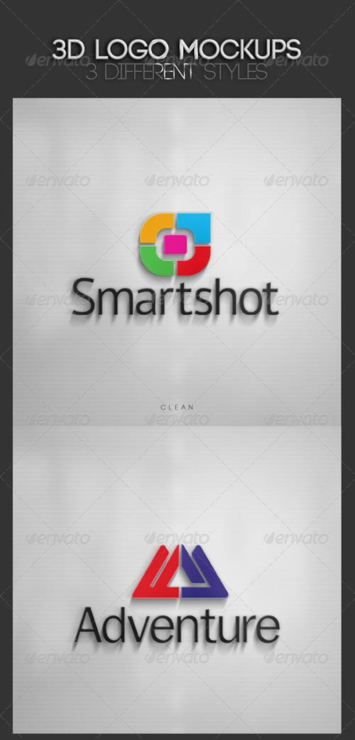 GraphicRiver 3D Logo Mockups Vol. 2