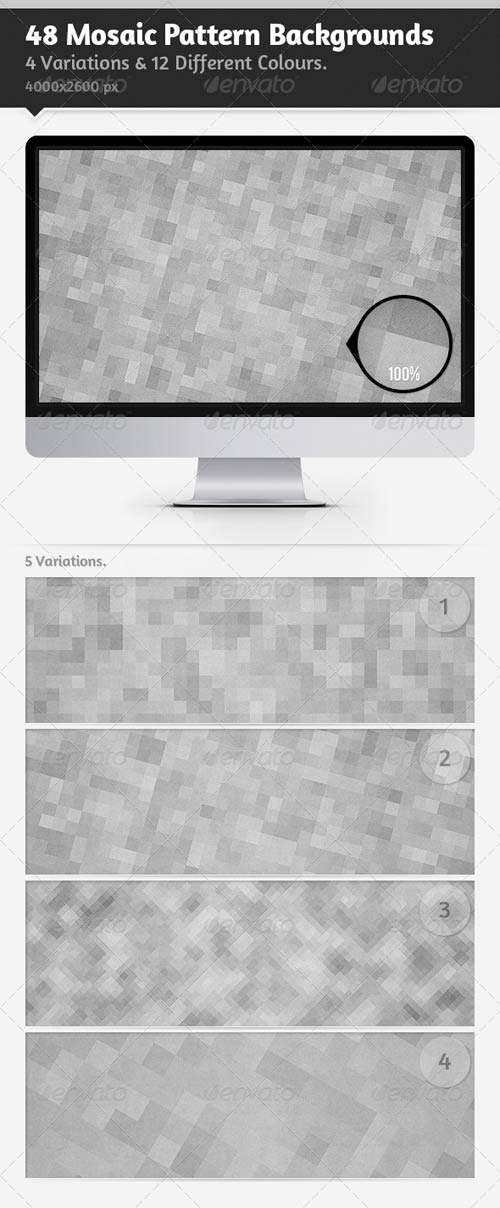 GraphicRiver 48 Mosaic Pattern Backgrounds