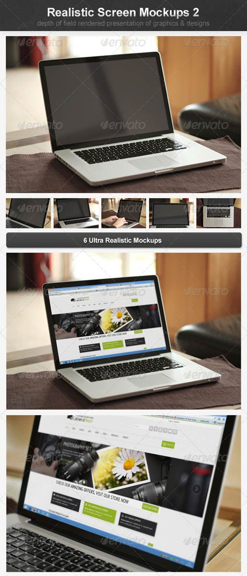 GraphicRiver Realistic Screen Mockups 2