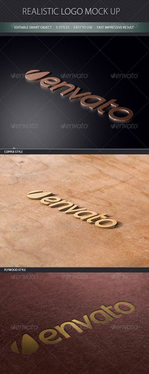GraphicRiver Realistic Logo Mock Up