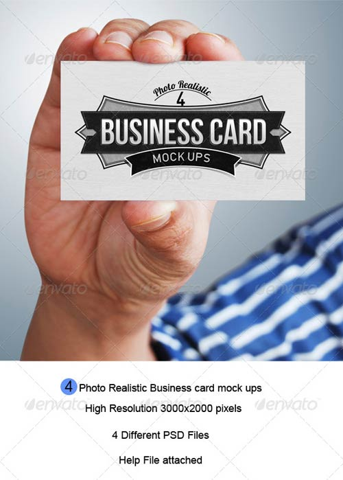 GraphicRiver Business Card Mock-Up 4471567