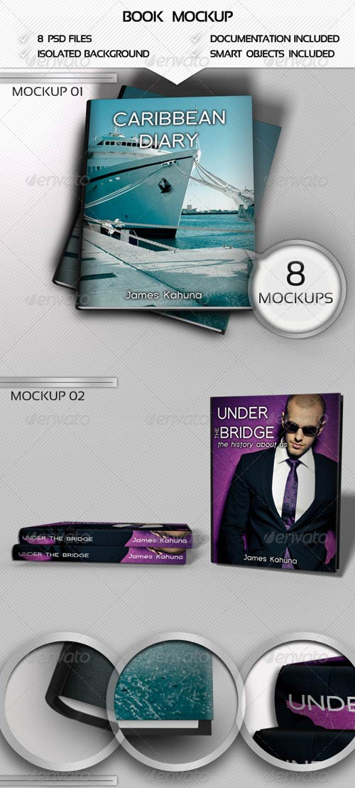 GraphicRiver Book Mockups Pack