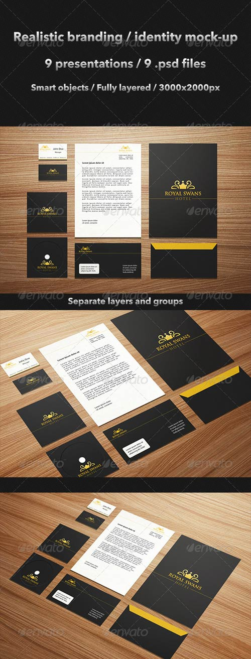 GraphicRiver Realistic Brand / Identity Mock-Up