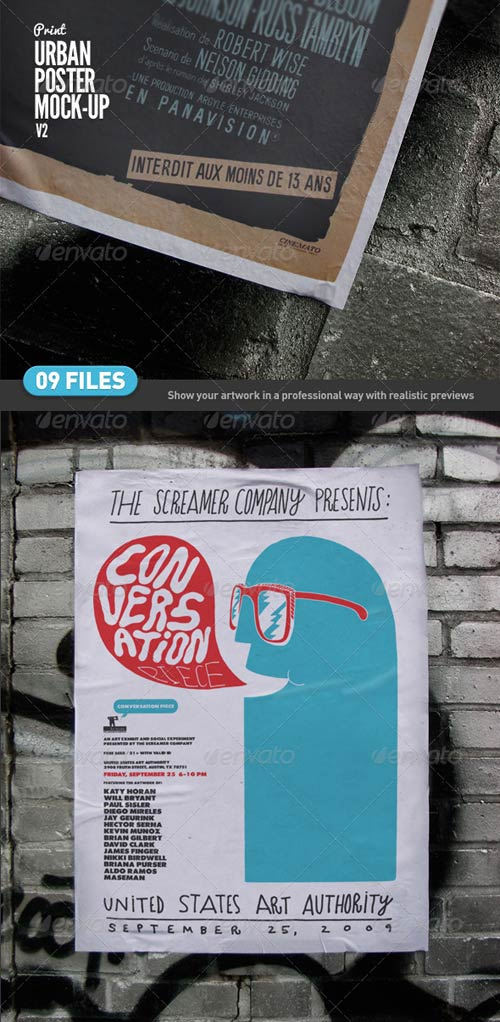 GraphicRiver Urban Poster Mock-Up v2
