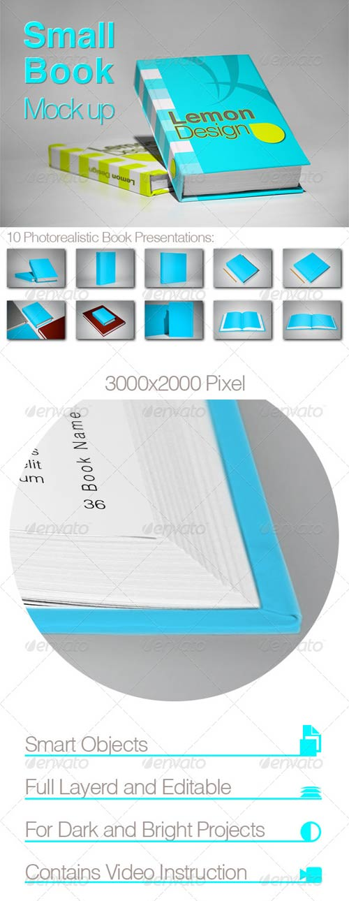 GraphicRiver Photorealistic Book Mock-Up