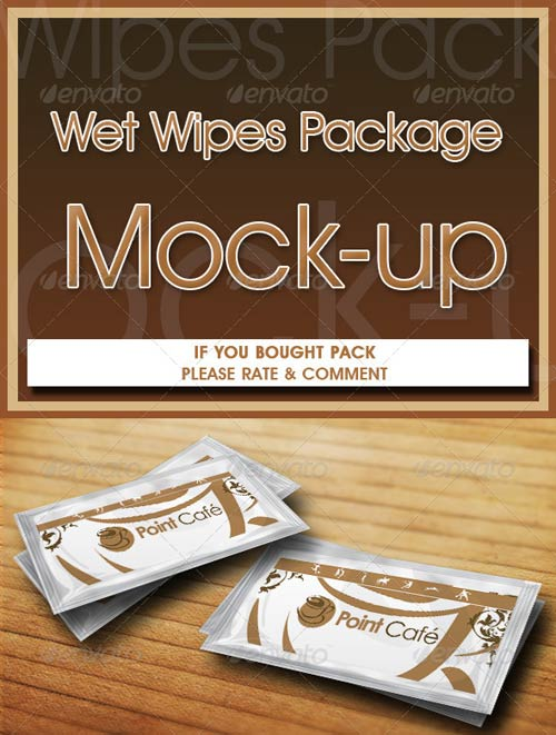 GraphicRiver Wet Wipes Package Mock-up