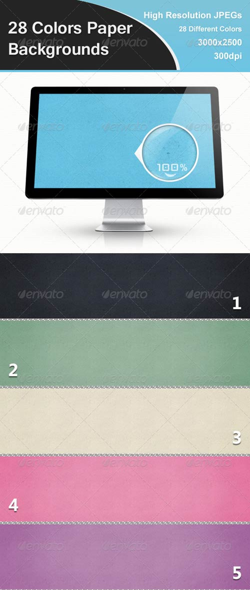 GraphicRiver 28 Colors Paper Backgrounds