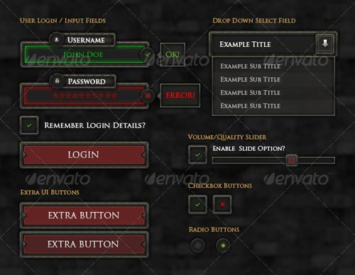 GraphicRiver RPG User Interface Elements
