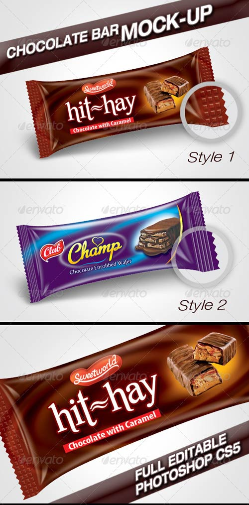 GraphicRiver Chocolate Bar Mock-Up