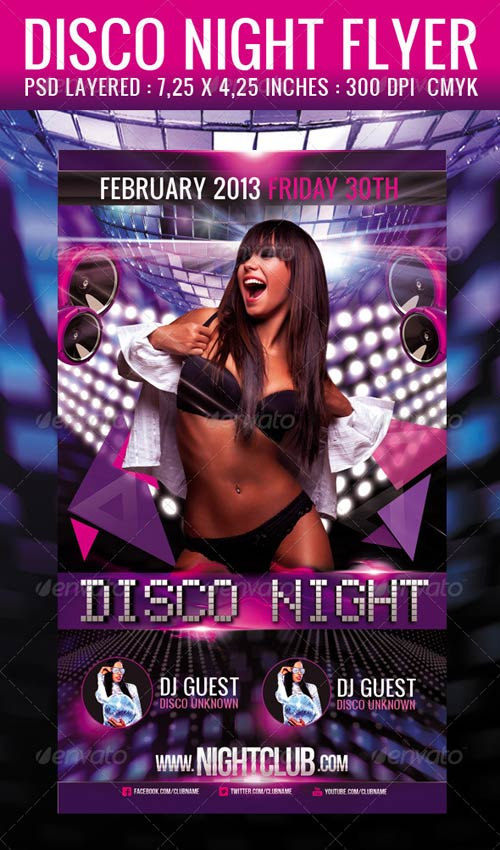GraphicRiver Disco Night Flyer