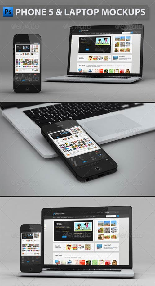 GraphicRiver Phone and Laptop Mockups