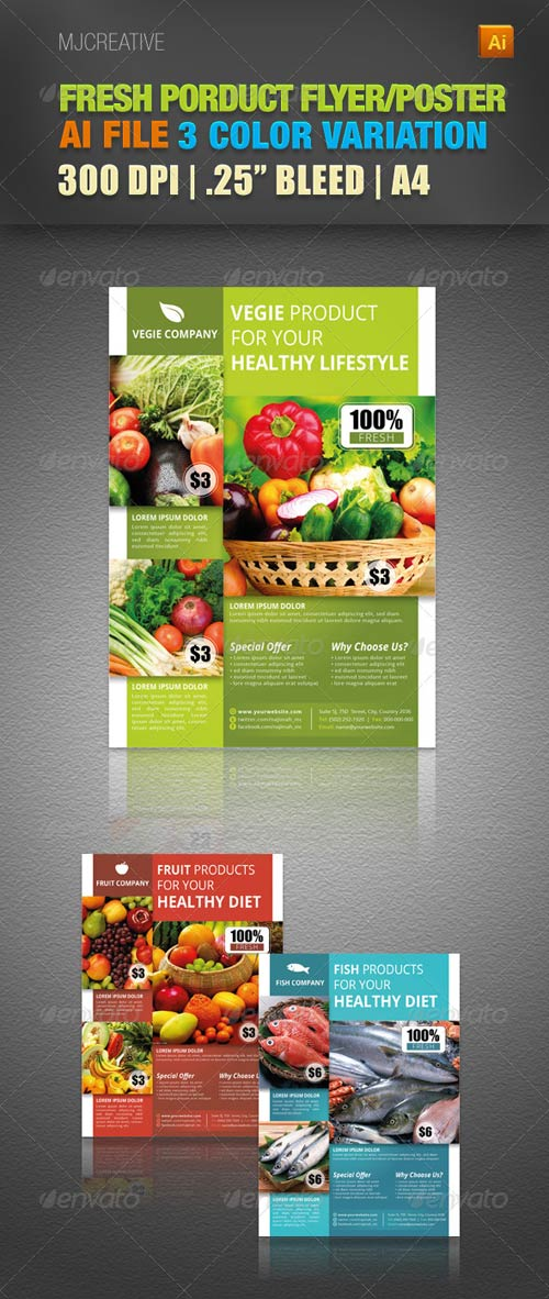 GraphicRiver Fresh Product Flyer & Poster