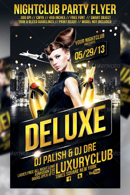 GraphicRiver Deluxe Nightclub Party Flyer
