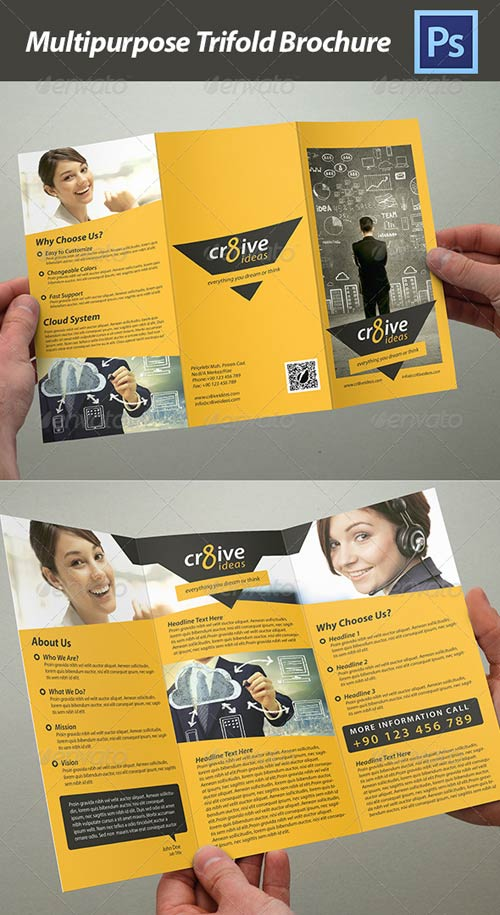 GraphicRiver Trifold Brochure - Multipurpose
