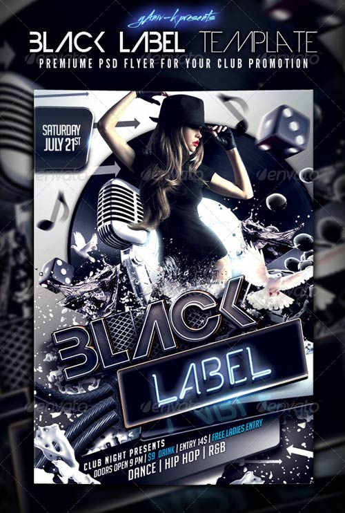 GraphicRiver Black Label Flyer Template