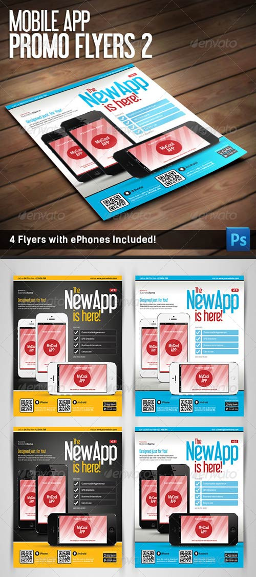 GraphicRiver Mobile App Flyers Template v.2