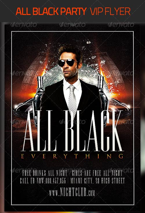 GraphicRiver All Black Party Flyer