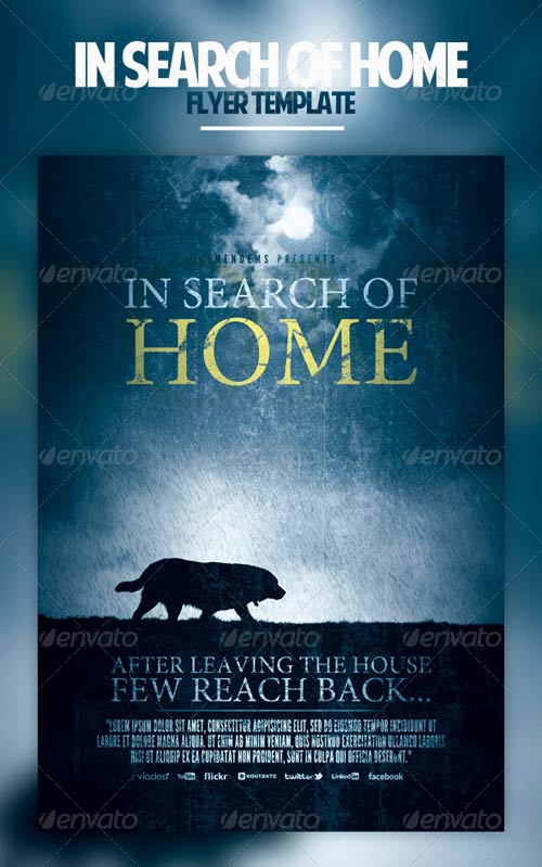 GraphicRiver In Search Of Home Flyer Template