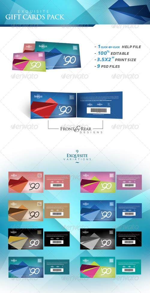 GraphicRiver Exquisite Gift Cards Pack