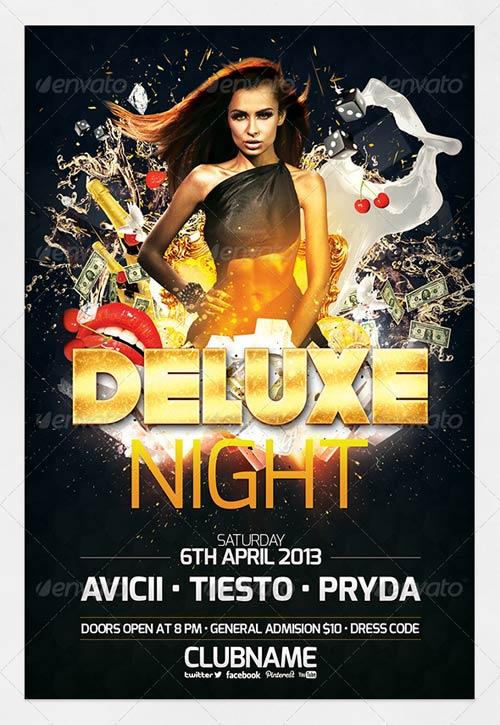 GraphicRiver Deluxe Night Party Flyer 4443557