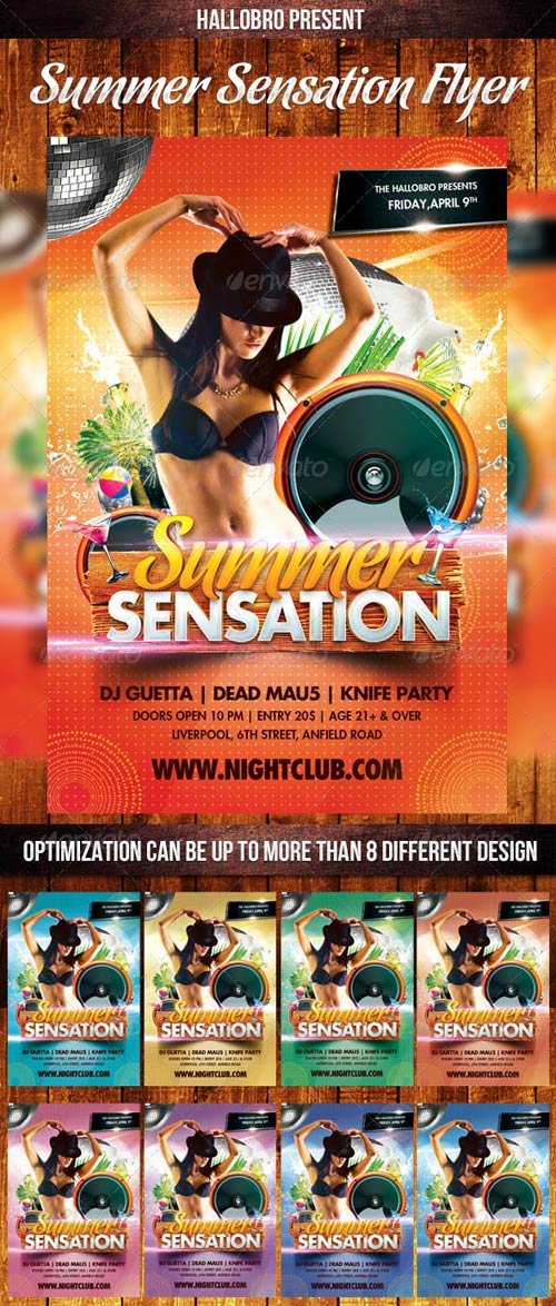 GraphicRiver Summer Sensation Party Flyer