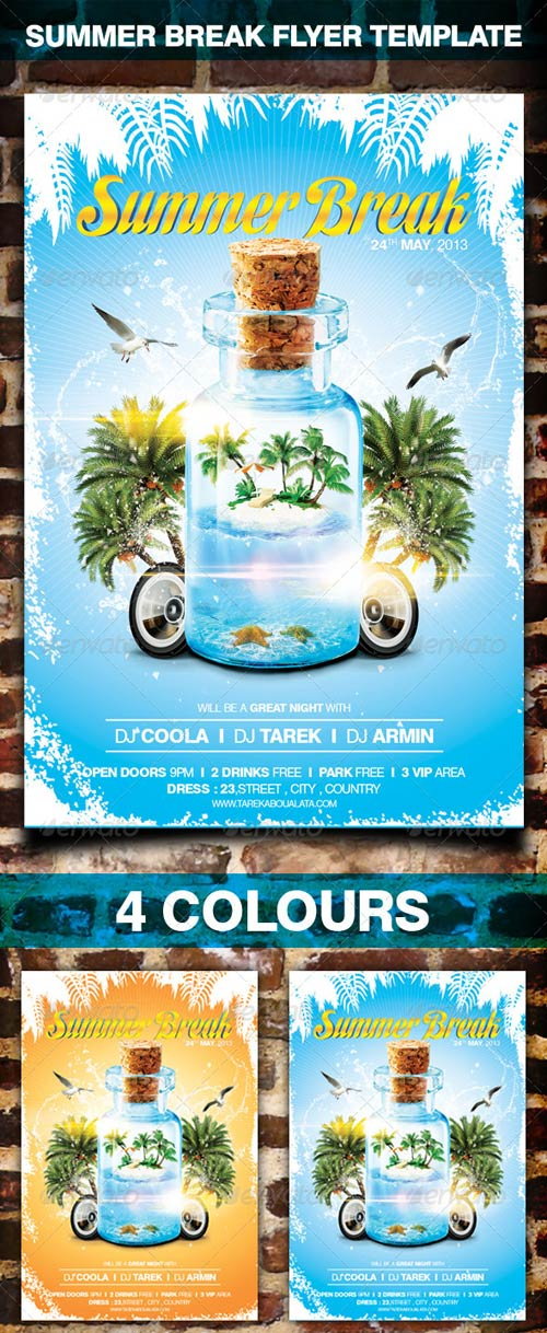 GraphicRiver Summer Party Flyer Template 4436310