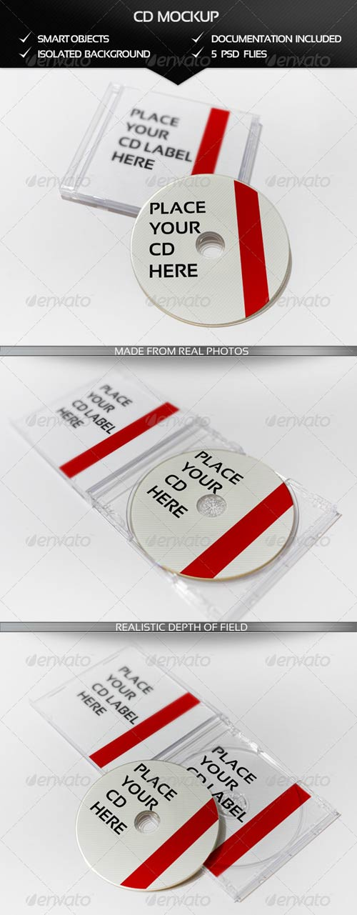 GraphicRiver CD Realistic Mockup