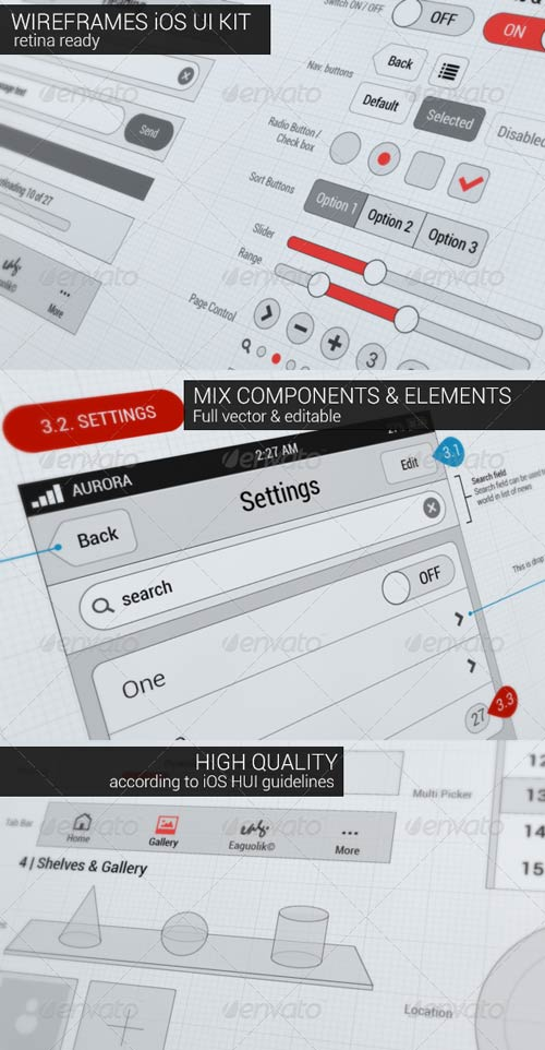 GraphicRiver Wireframes iOS UI KIT