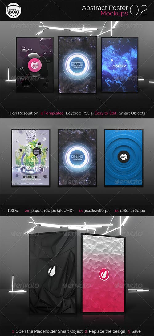 GraphicRiver Abstract Poster Mockups 02
