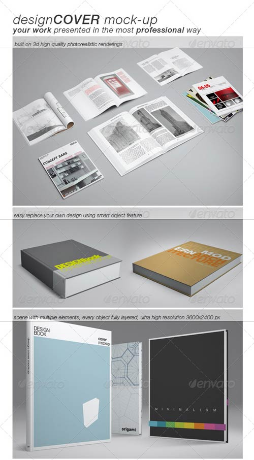 GraphicRiver Book Cover Mock-up