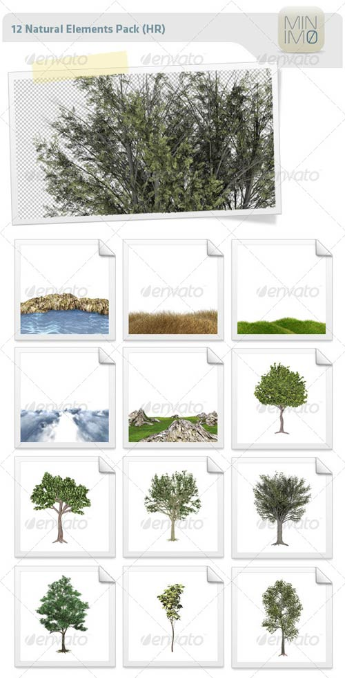 GraphicRiver 12 Natural Elements Pack (HR)
