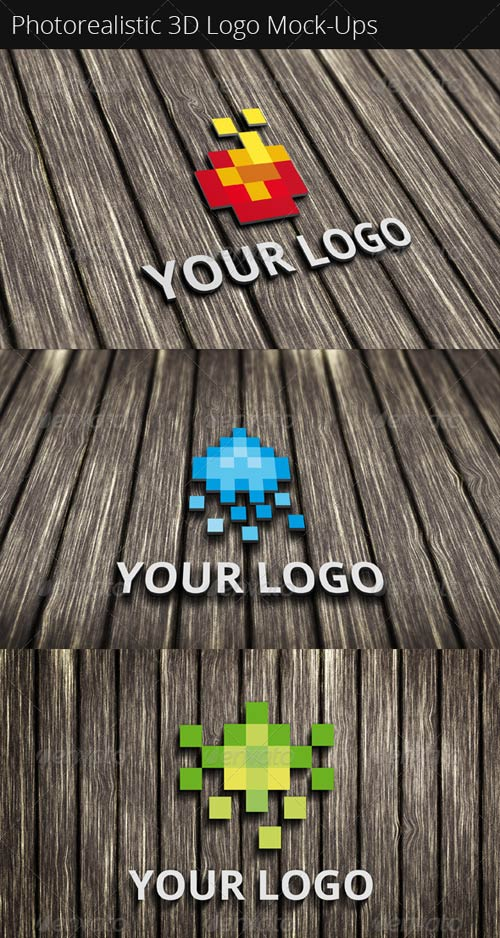 GraphicRiver Photorealistic 3D Logo Mock-Ups