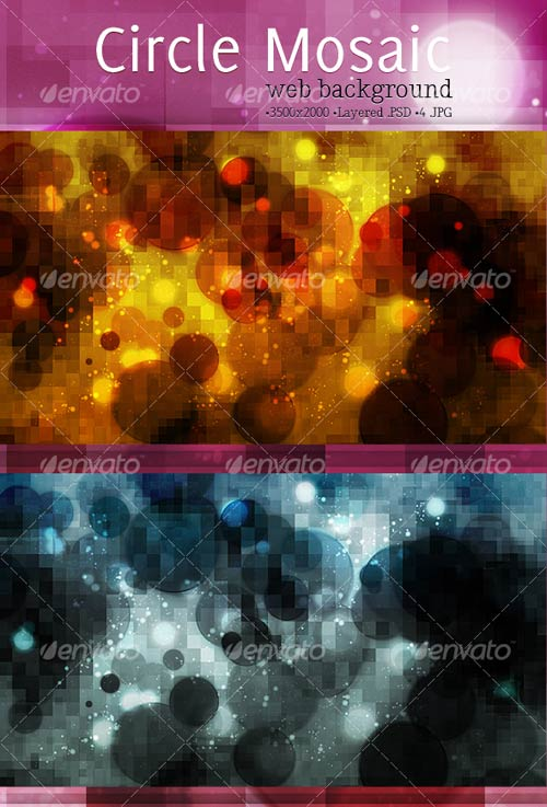 GraphicRiver Mosaic Circles Background