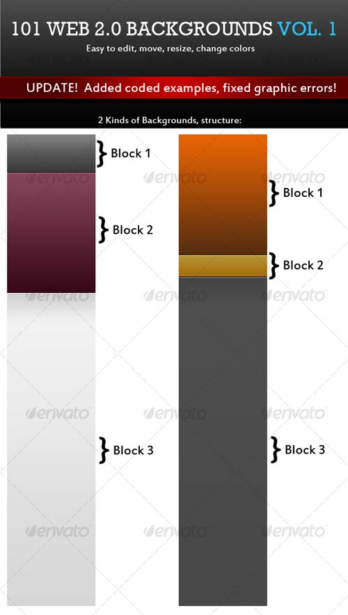 GraphicRiver 101 Web 2.0 Backgrounds. Mega Pack