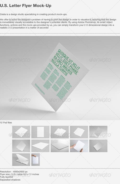 GraphicRiver U.S. Letter Flyer Mock-Up