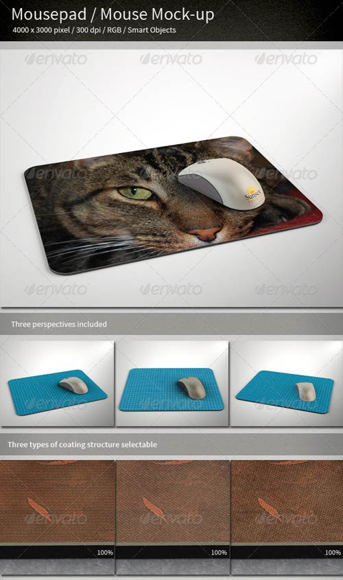 GraphicRiver Mousepad/Mouse Mock-up