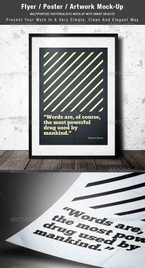 GraphicRiver Flyer / Poster / Artwork Mock-up