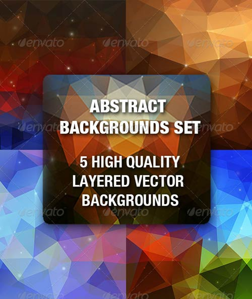 GraphicRiver Abstract Triangular Backgrounds Set