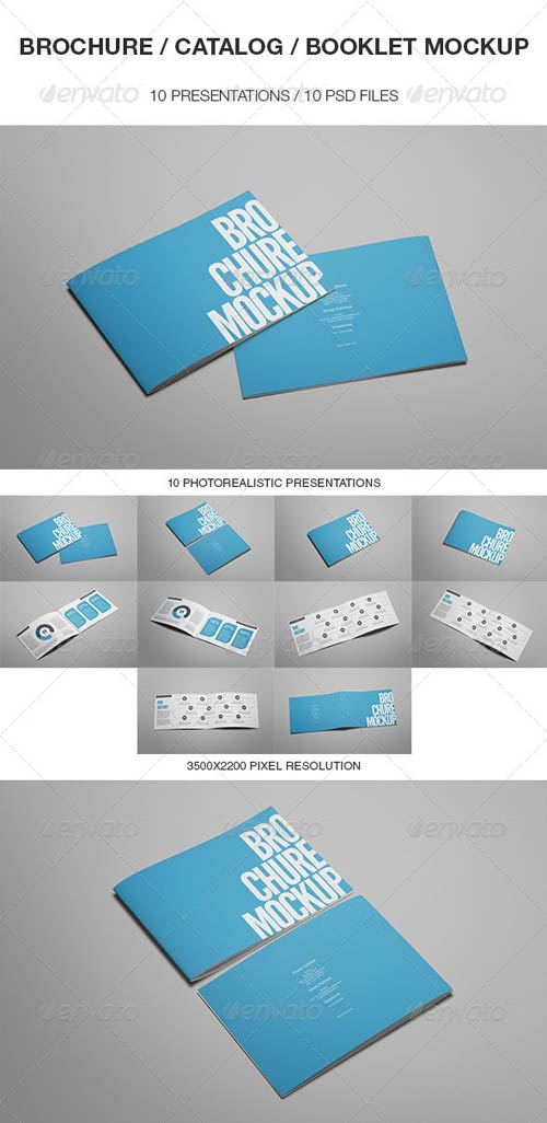 GraphicRiver Brochure / Catalog / Booklet Mockup