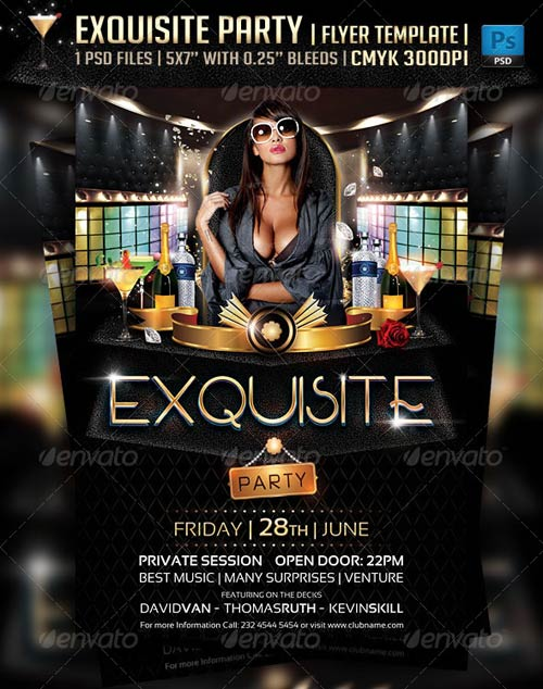 GraphicRiver Exquisite Party Flyer Template