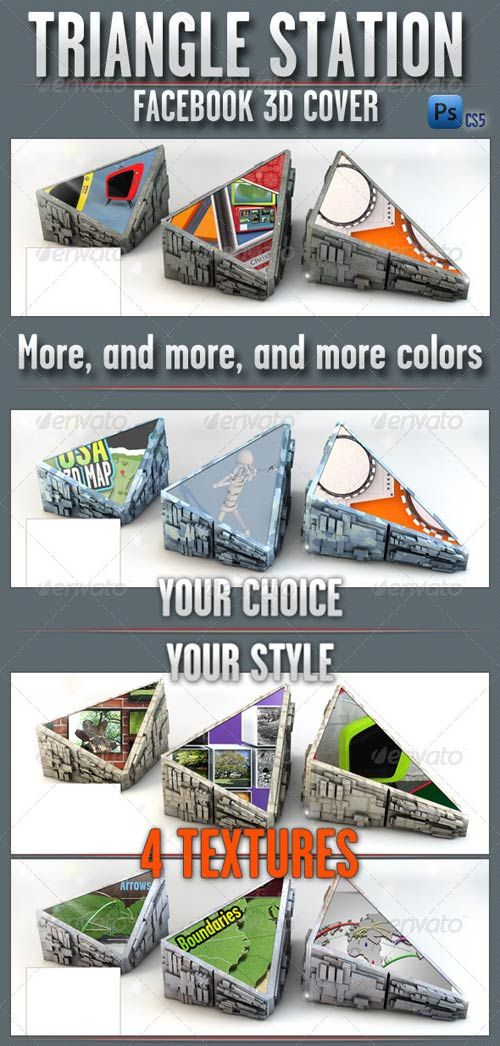 GraphicRiver FB Cover Triangle Station