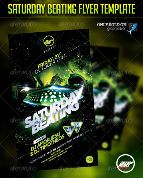 GraphicRiver Saturday Beating Flyer Template