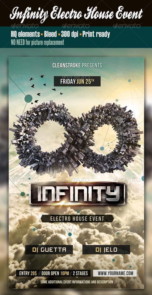 GraphicRiver Infinity Electro House Event