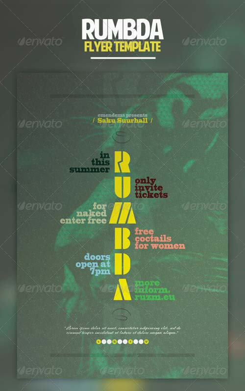 GraphicRiver Rumbda Flyer Template