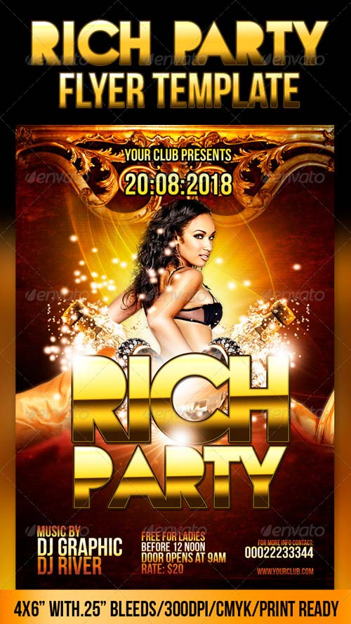 GraphicRiver Rich Party Flyer Template