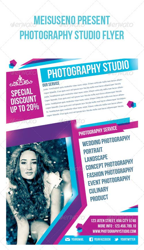 GraphicRiver Photography Studio Flyer