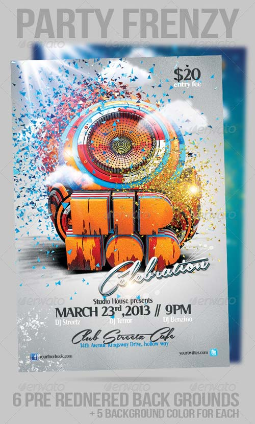 GraphicRiver Hip Hop Party Frenzy