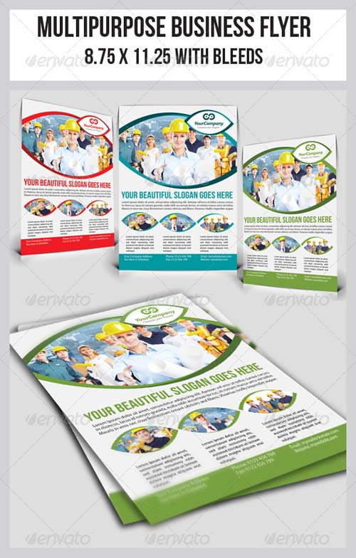 GraphicRiver Multipurpose Business Flyer 10